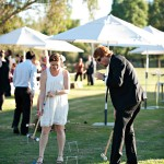 Croquet Game at a Wedding